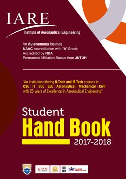 brochure and information booklets iare best engineering college
