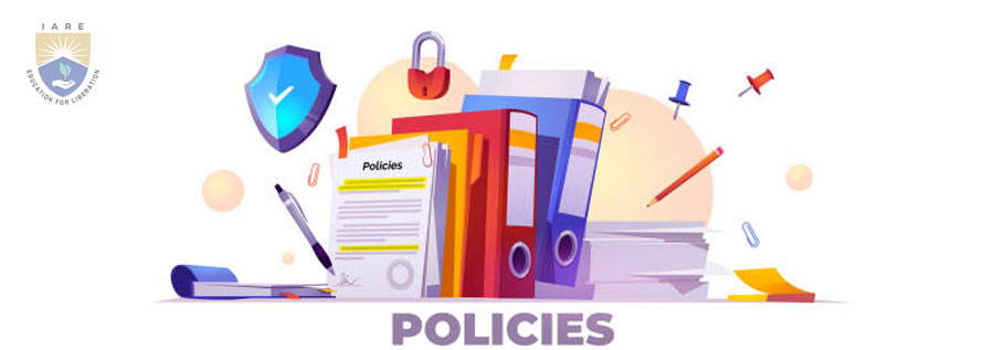 Institute of Aeronautical Engineering - IARE - Policies